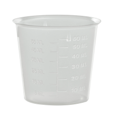 NATURAL MEASURING CUP WITH GRADUATION MARK  60ML